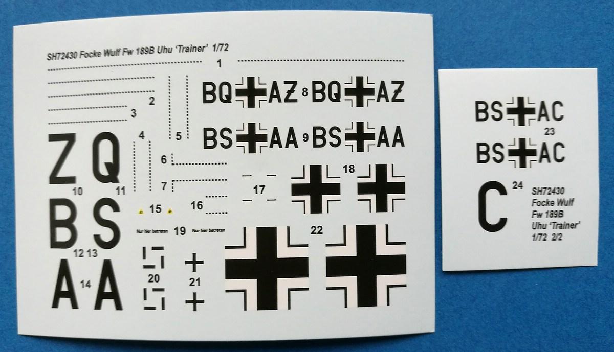 Special-Hobby-SH-72430-FW-189-B-0-Luftwaffe-Trainer-3 FW 189 B-0 / B-1 Luftwaffe Trainer in 1:72 von Special Hobby # SH 72430
