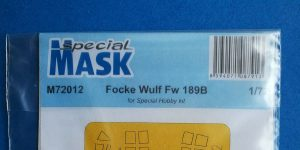 Selbstklebende Masken füpr Special Hobbys FW 189 B-0 in 1:72 von Special Mask #72012