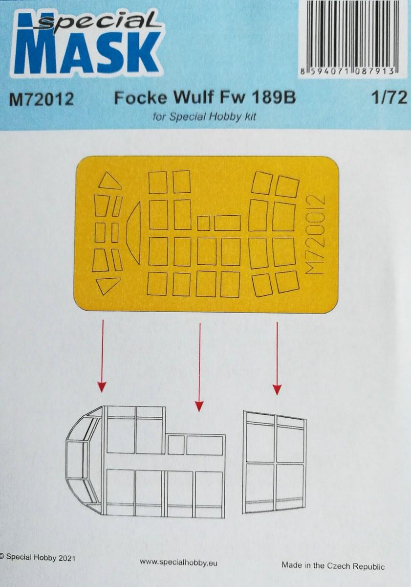 Special-Mask-M72012-FW-189-B-0-3 Selbstklebende Masken füpr Special Hobbys FW 189 B-0 in 1:72 von Special Mask #72012