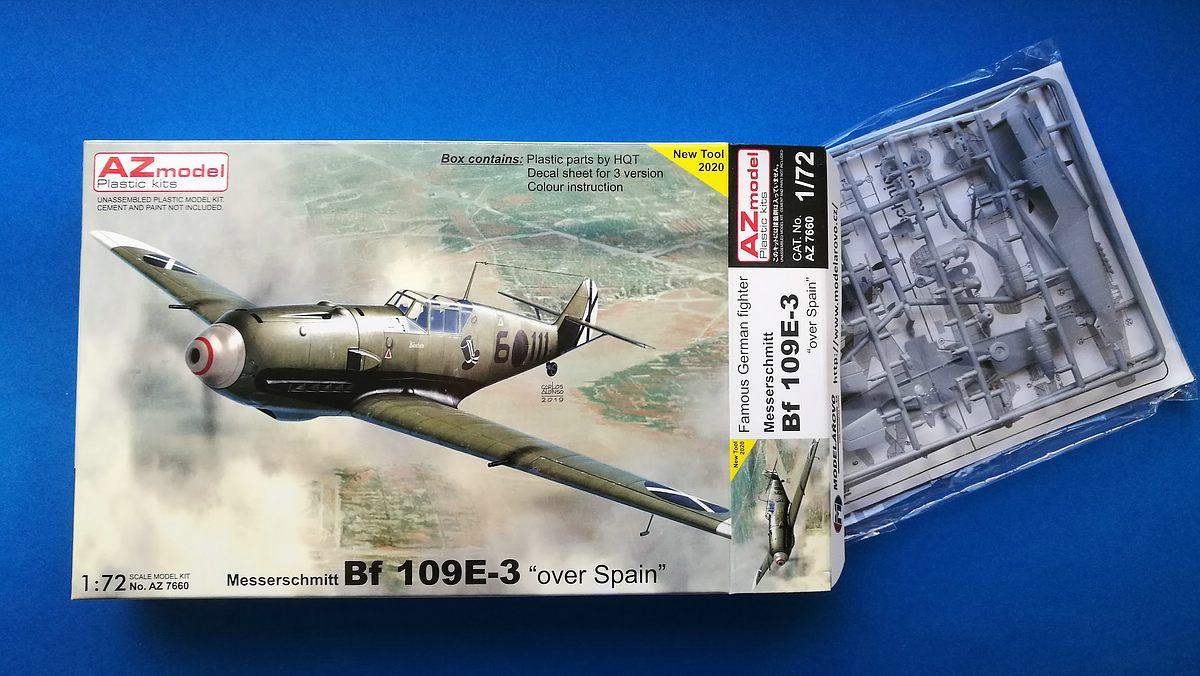 AZ-Model-7660-Bf-109-E-3-over-Spain-1 Messerschmitt Bf 109 E-3 over Spain in 1:72 von AZ Model # 7660