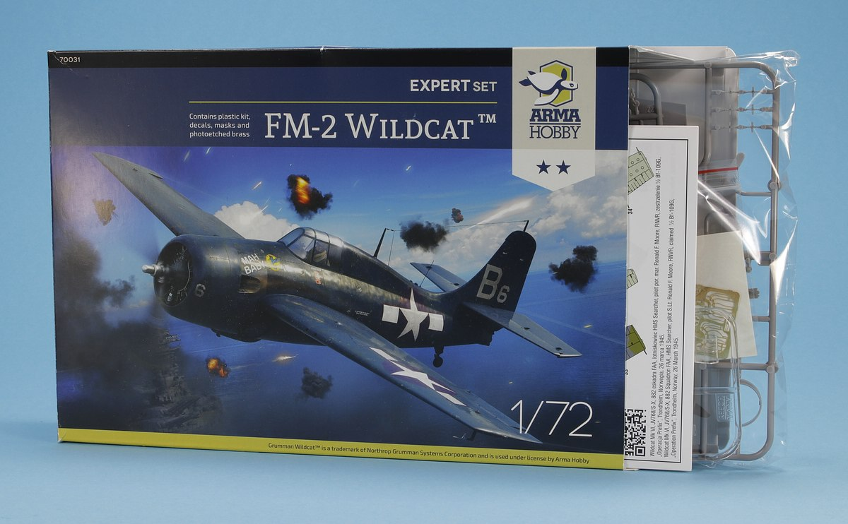 Arma-Hobby-70031-FM-2-Wildcat-2 FM-2 Wildcat in 1:72 von Arma Hobby # 70031