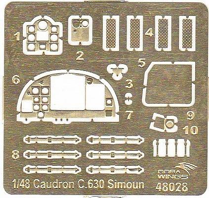 DoraWings-DW-48028-Caudron-C.630-Simoun-3 Caudron C.630 Simoun in 1:48 von Dora Wings #DW 48028