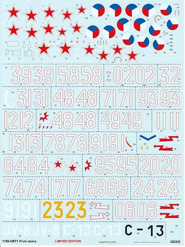 EDuard-1189-La-5-La-7-Combo-Decal La-5FN und La-7 in 1:48 von Eduard #1189