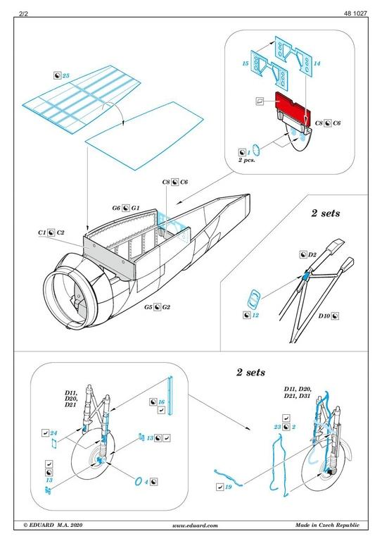 EDuard-Zubehoer-Do-217-15 Details für ICM Do 217 J von Eduard in 1:48 #FE1110 #FE1111 #EX704 #481027