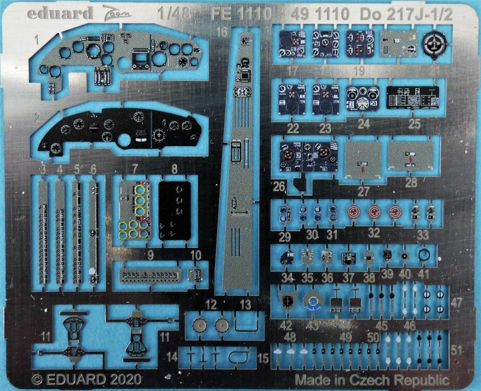 EDuard-Zubehoer-Do-217-2 Details für ICM Do 217 J von Eduard in 1:48 #FE1110 #FE1111 #EX704 #481027
