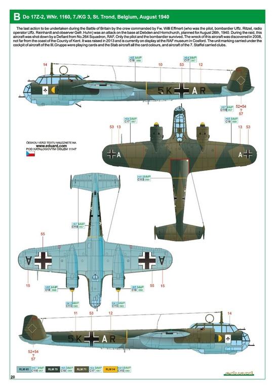 """Eduard-11147-Kampfstift-36 Der """"Kampfstift"""" die Do 17 Z, eine Limited Edition von Eduard aus den Formen von ICM in 1:48 #11147"""