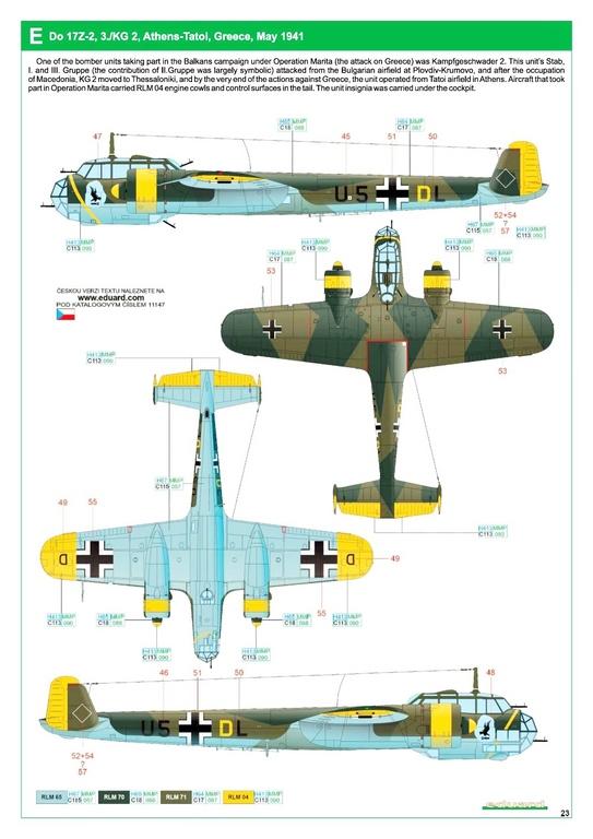 """Eduard-11147-Kampfstift-39 Der """"Kampfstift"""" die Do 17 Z, eine Limited Edition von Eduard aus den Formen von ICM in 1:48 #11147"""