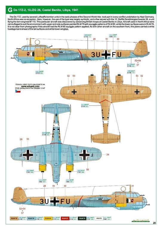 """Eduard-11147-Kampfstift-41 Der """"Kampfstift"""" die Do 17 Z, eine Limited Edition von Eduard aus den Formen von ICM in 1:48 #11147"""