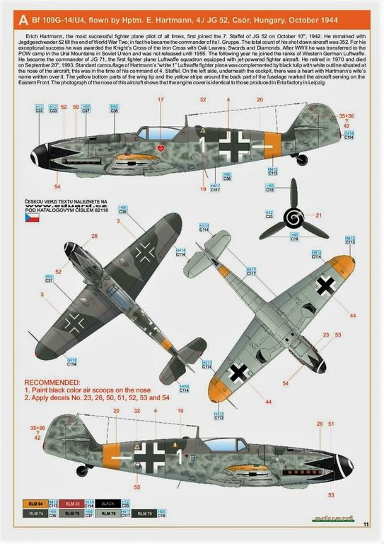 Eduard-82118-Bf-109-G-14-ProfiPack-3 Messerschmitt Bf 109 G-14 von Eduard in 1:48 #82118