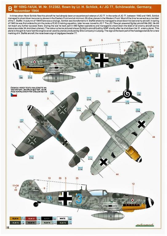 Eduard-82118-Bf-109-G-14-ProfiPack-4 Messerschmitt Bf 109 G-14 von Eduard in 1:48 #82118
