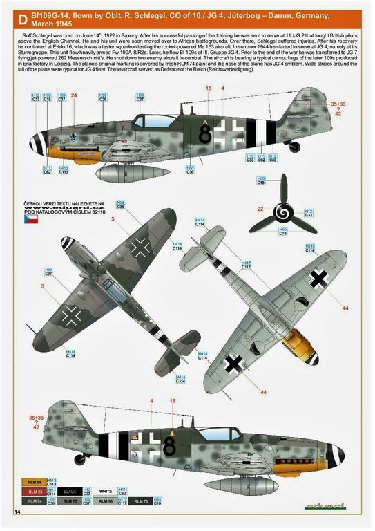 Eduard-82118-Bf-109-G-14-ProfiPack-6 Messerschmitt Bf 109 G-14 von Eduard in 1:48 #82118