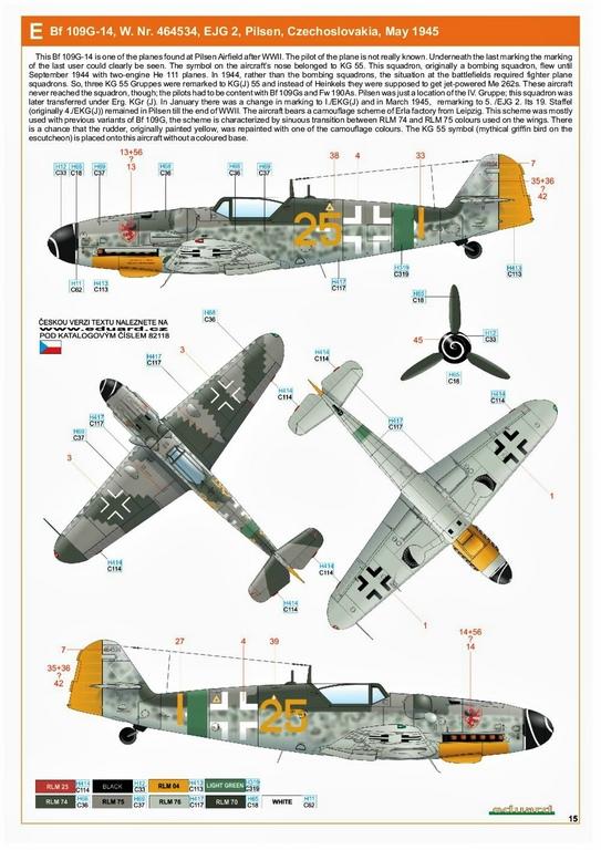 Eduard-82118-Bf-109-G-14-ProfiPack-7 Messerschmitt Bf 109 G-14 von Eduard in 1:48 #82118