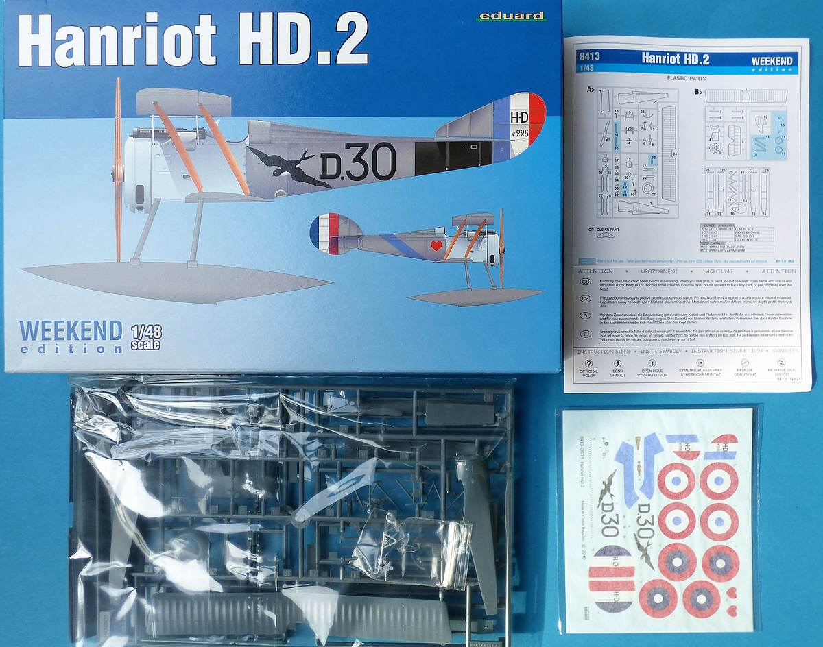 Eduard-8413-Hanriot-HD-2 Hanriot HD.2 in 1:48 von Eduard #8413