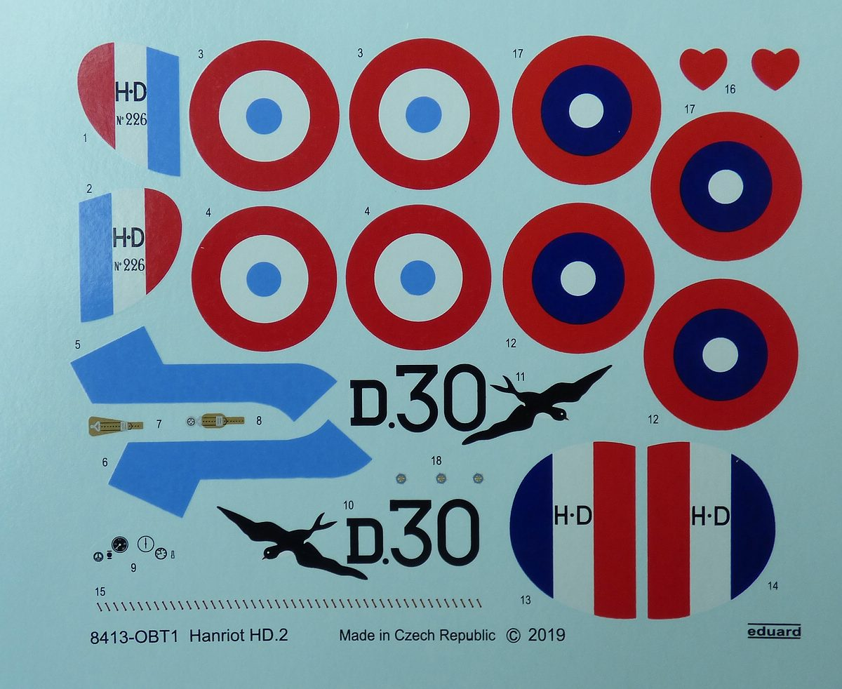 Eduard-8413-Hanriot-HD-22 Hanriot HD.2 in 1:48 von Eduard #8413