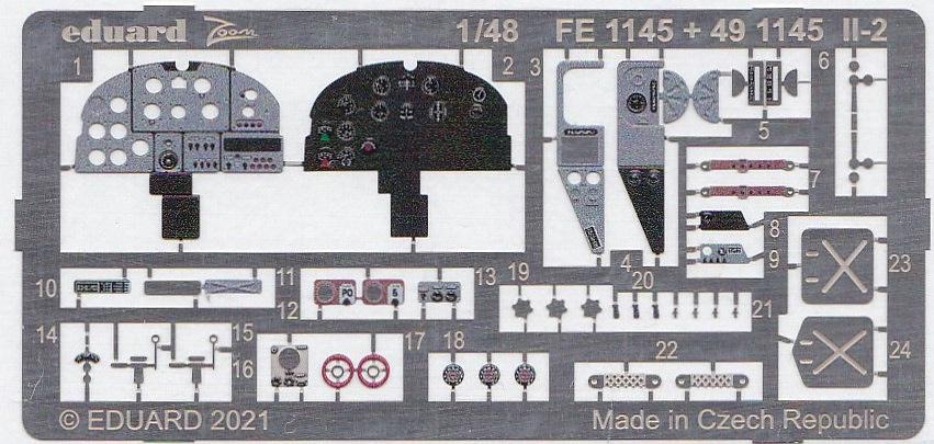 Eduard-FE-1145-Il-2-ZOOM-3 Zubehör für die Il-2 von Eduard # FE 1145, FE 1146 und EX 749