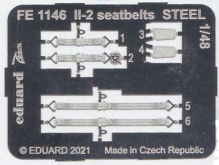 Eduard-FE-1146-Il-2-seatbelts-STEEL-2 Zubehör für die Il-2 von Eduard # FE 1145, FE 1146 und EX 749