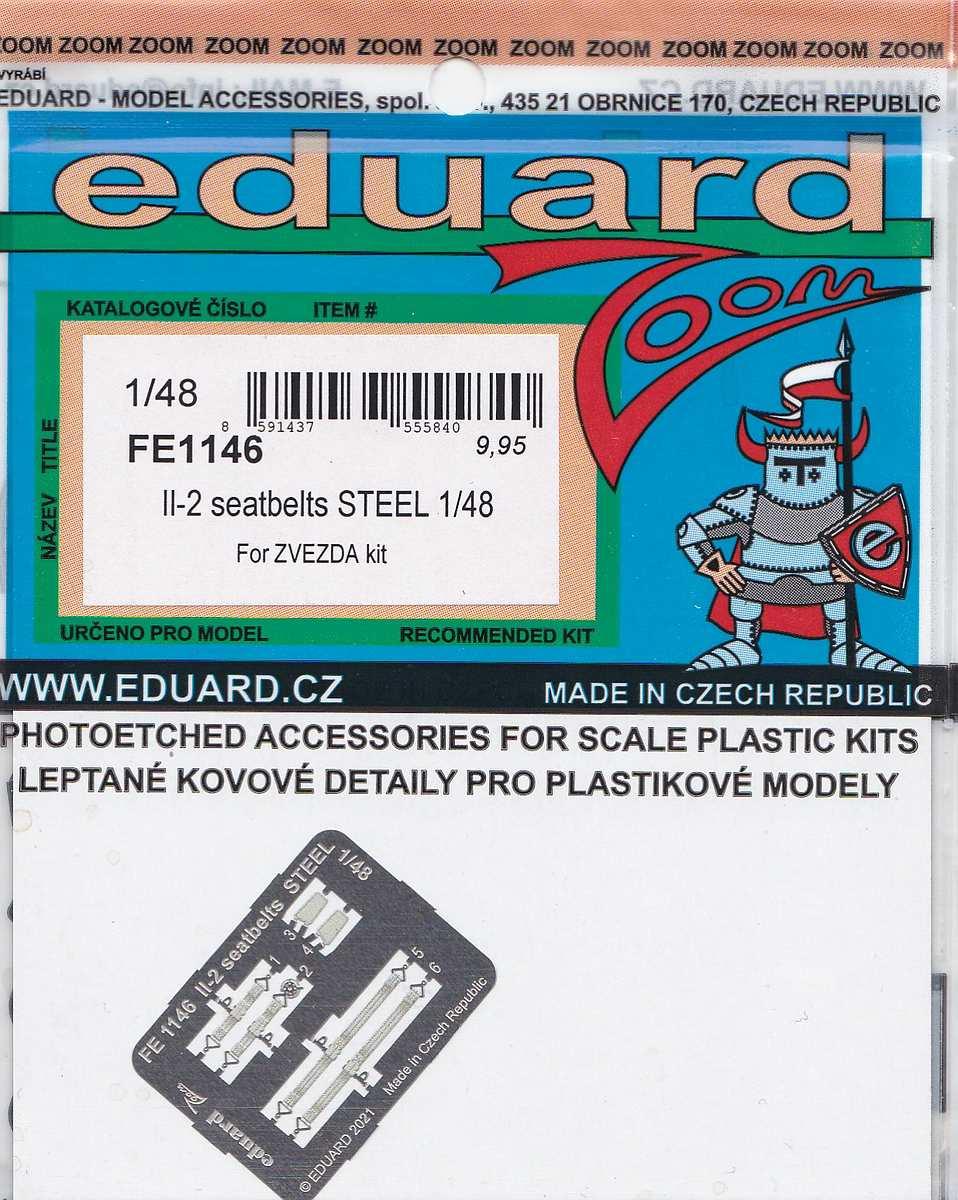 Eduard-FE-1146-Il-2-seatbelts-STEEL-3 Zubehör für die Il-2 von Eduard # FE 1145, FE 1146 und EX 749