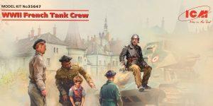 French Tank Crew WW II in 1:35 von ICM# 35647