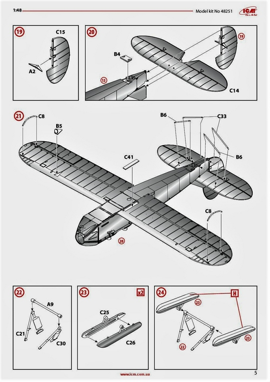 ICM-48251-Po-2-39 Polikarpov Po 2 / U-2 in 1:48 von # 48251