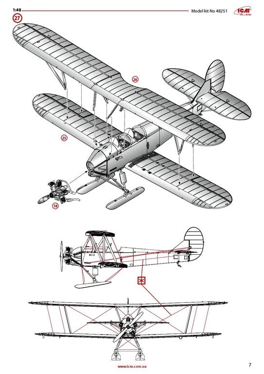 ICM-48251-Po-2-41 Polikarpov Po 2 / U-2 in 1:48 von # 48251