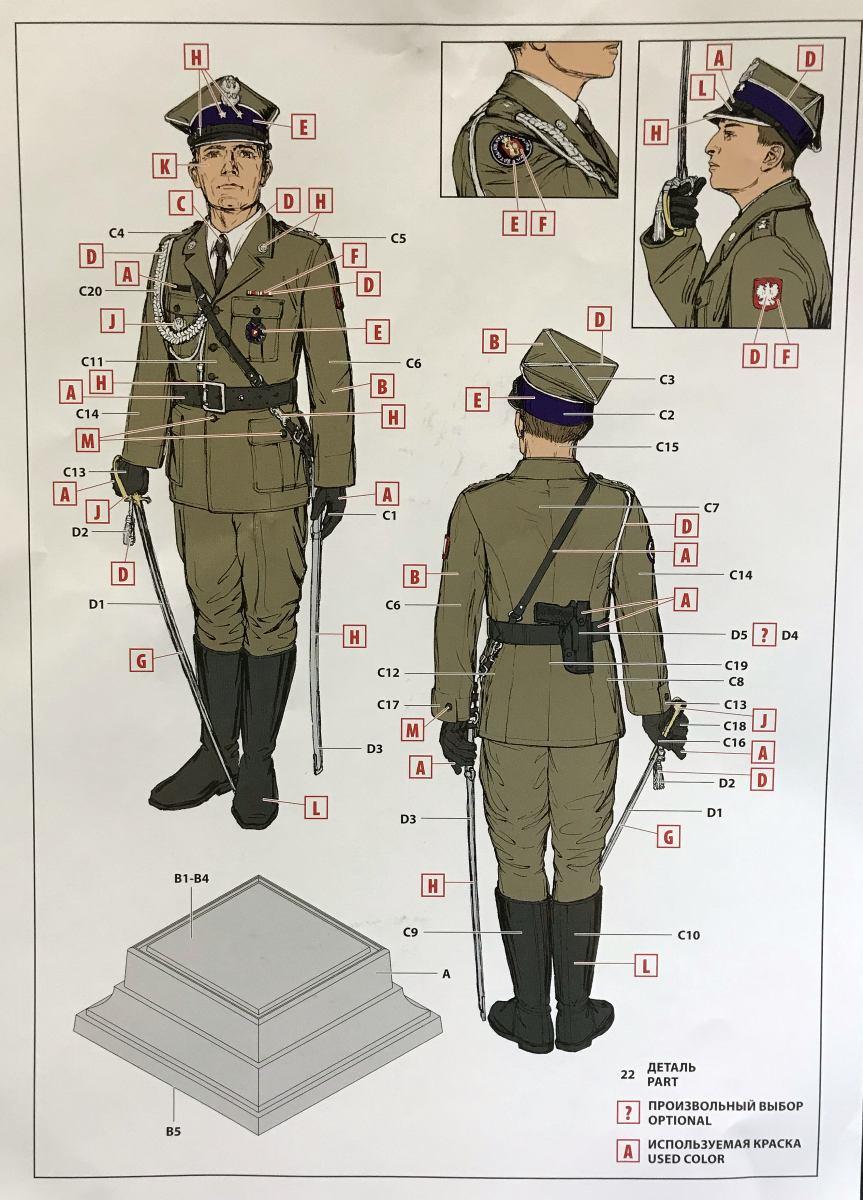 ICM_16010_Polish_Regiment_Officer_04 POLISH REGIMENT REPRESENTATIVE OFFICER IN 1:16 VON ICM # 16010