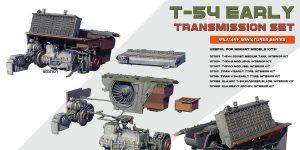 T-54 early Transmission Set in 1:35 von MiniArt #37051