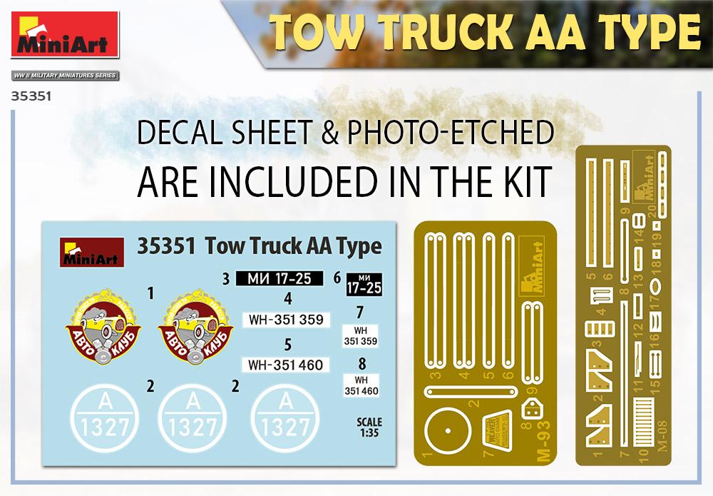 MiniArt-35351-Tow-Truck-AA-Type-2 Tow Truck AA Type in 1:35 von MiniArt # 35351