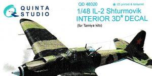 3D Decals für Il-2M3 in 1:48 von Quinta Studio # QD 48020
