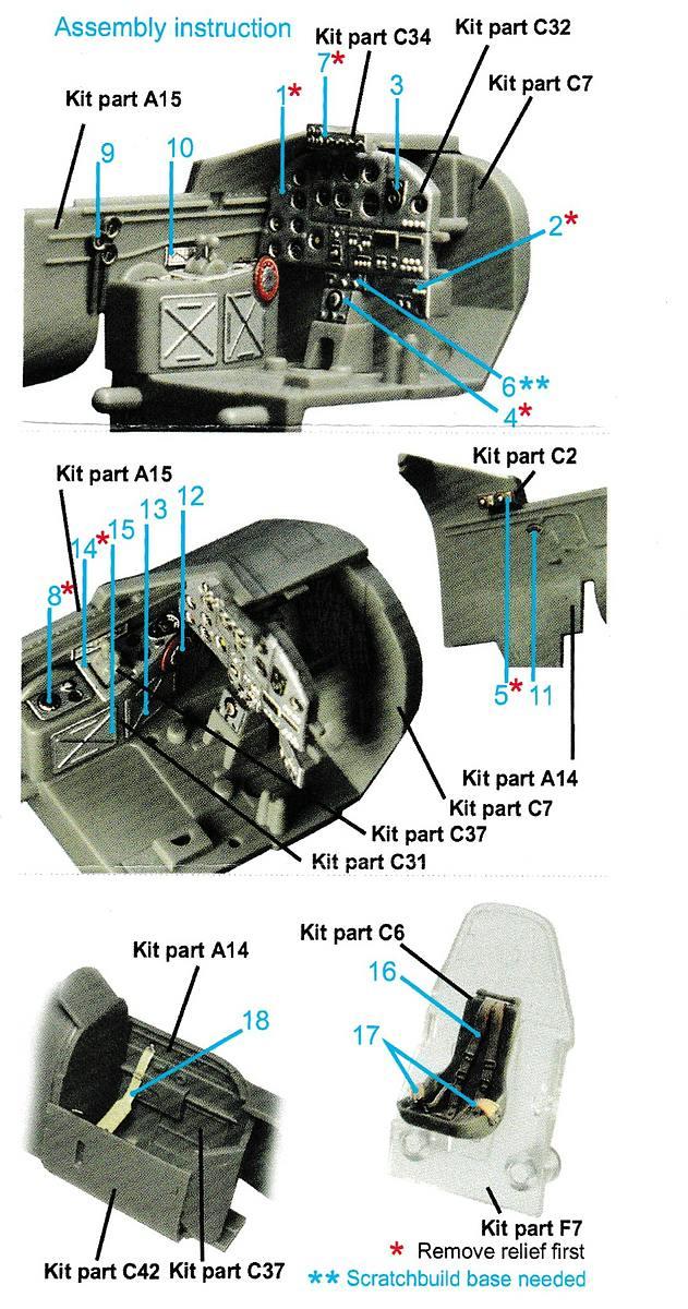 Quinta-Studio-QD-48020-Il-2-Interior-3D-decal-for-Tamiya-4 3D Decals für Il-2M3 in 1:48 von Quinta Studio # QD 48020