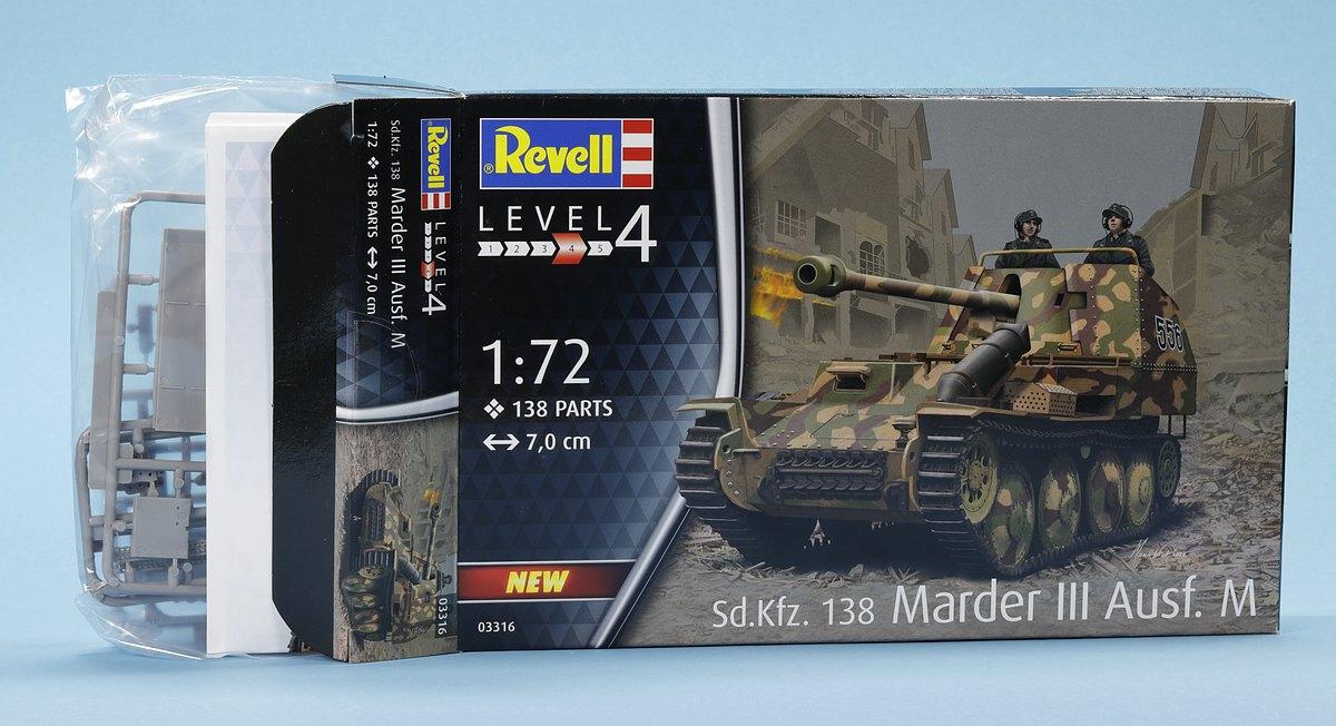 Revell-03316-Marder-III-M-16 Panzerjäger Marder III Ausf. M in 1:72 von Revell #03316