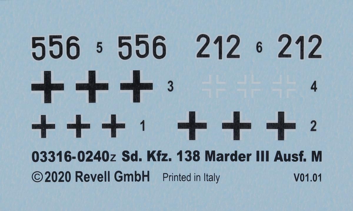 Revell-03316-Marder-III-M-18 Panzerjäger Marder III Ausf. M in 1:72 von Revell #03316