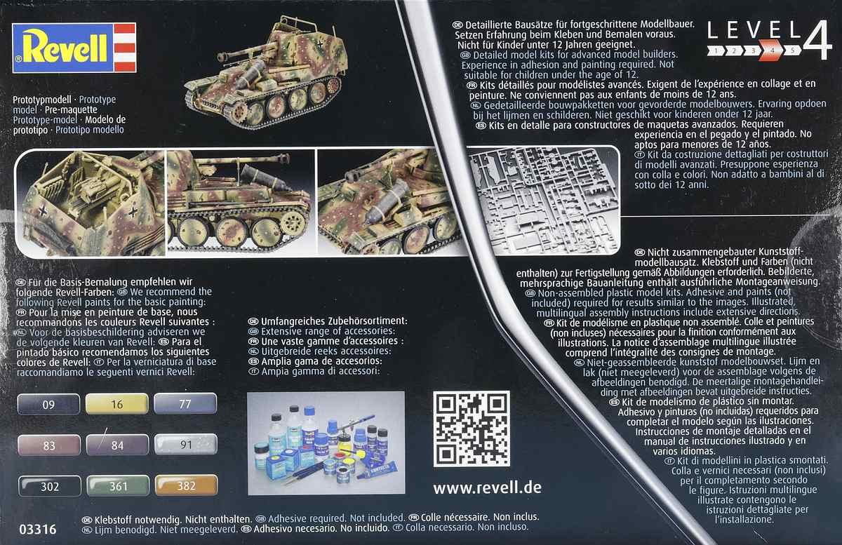 Revell-03316-Marder-III-M-2 Panzerjäger Marder III Ausf. M in 1:72 von Revell #03316