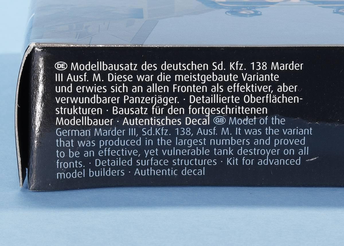 Revell-03316-Marder-III-M-3 Panzerjäger Marder III Ausf. M in 1:72 von Revell #03316