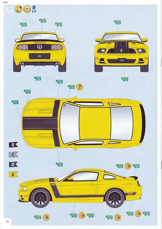 Revell-07652-2013-Ford-Mustang-Boss-302-40 2013 Ford Mustang Boss 302 in 1:25 von Revell # 07652