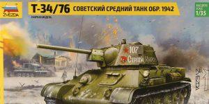 T-34/76 in 12:35 von Zvezda # 3686