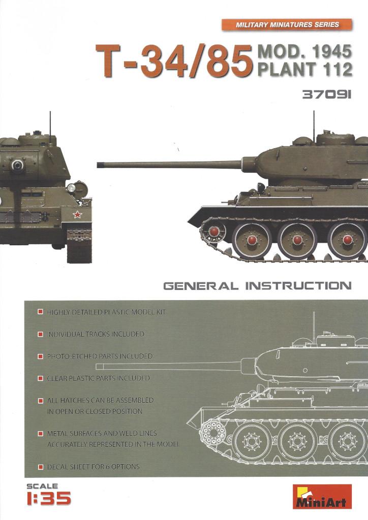 Anleitung01-1 T-34/85 Mod. 1945 Plant 112 1:35 Miniart (#37091)
