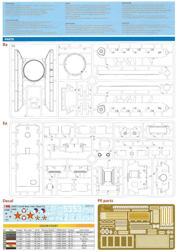 Anleitung02-1 T-34/85 Mod. 1945 Plant 112 1:35 Miniart (#37091)