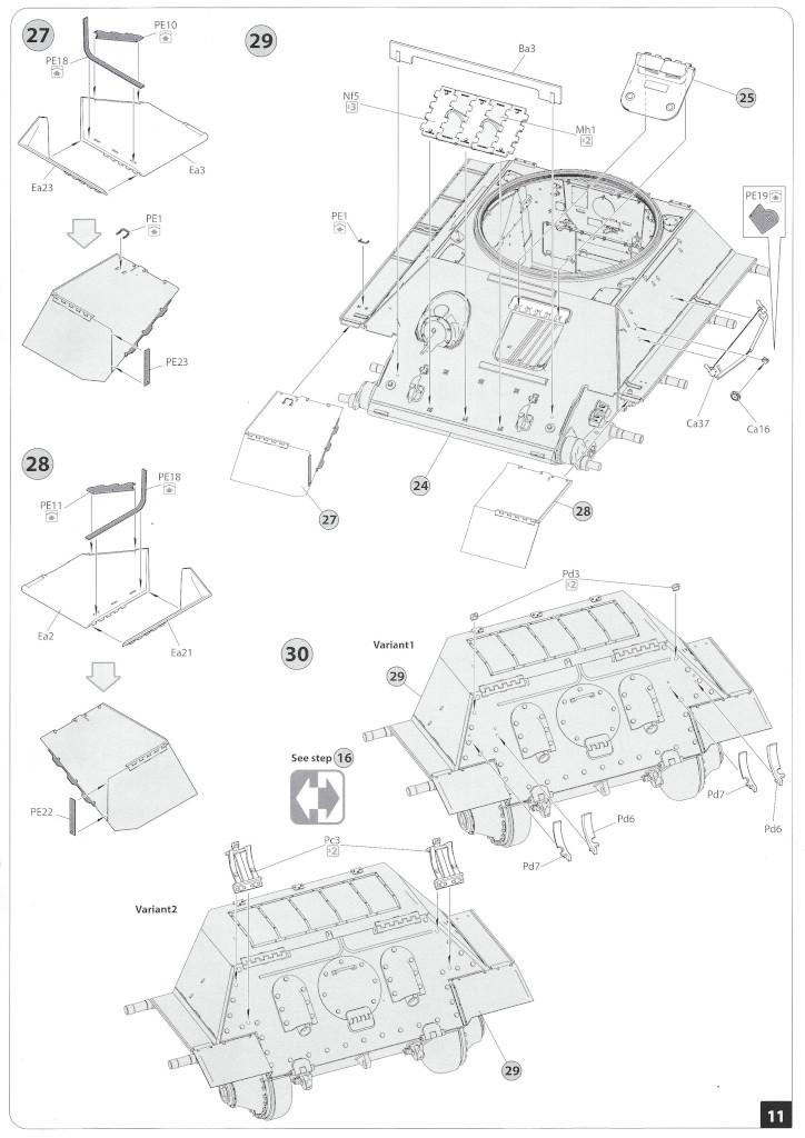 Anleitung10-1 T-34/85 Mod. 1945 Plant 112 1:35 Miniart (#37091)