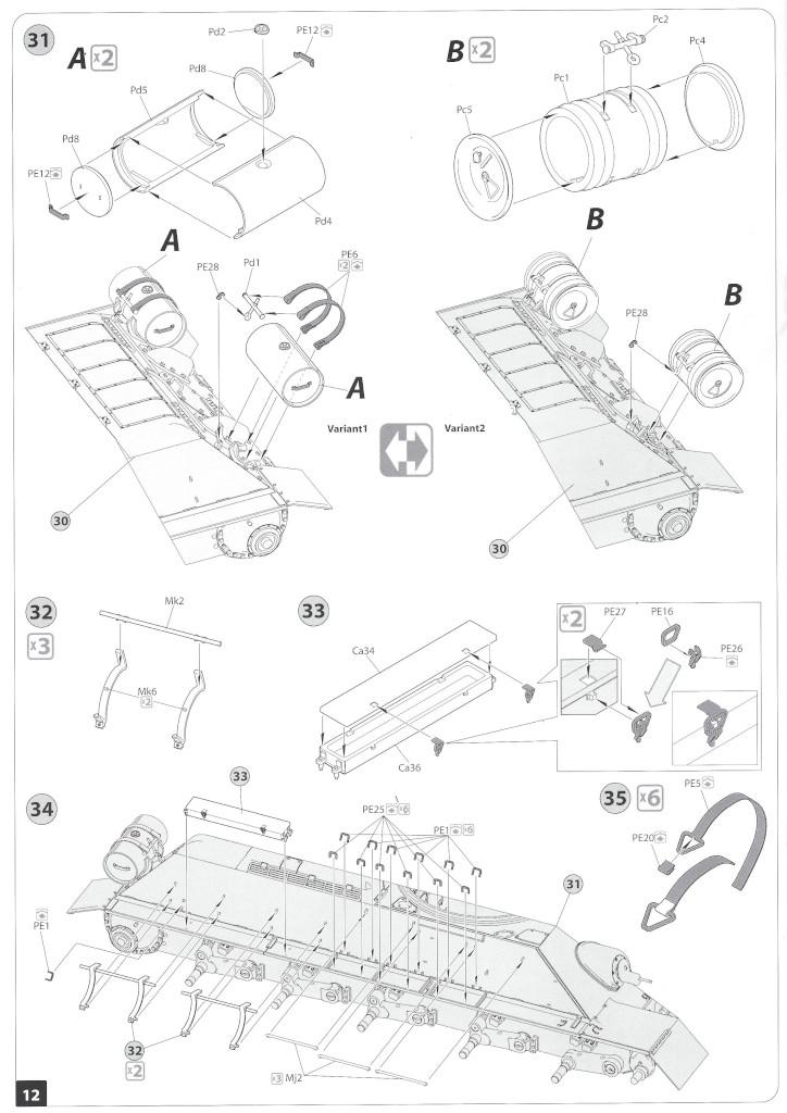 Anleitung11-1 T-34/85 Mod. 1945 Plant 112 1:35 Miniart (#37091)