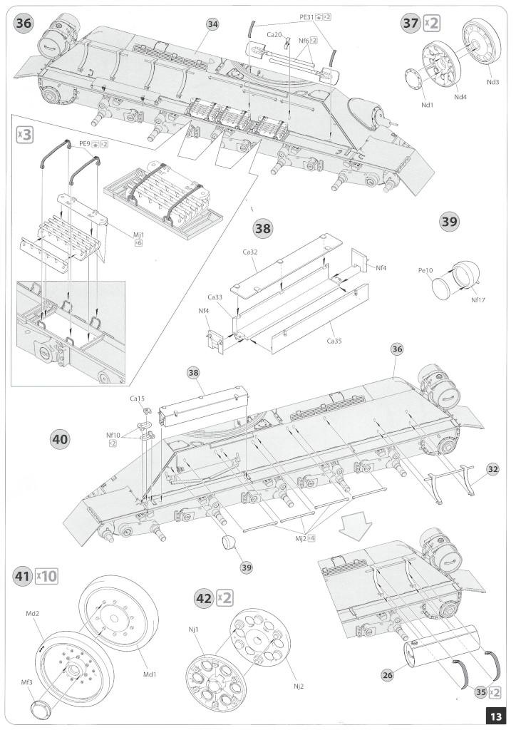 Anleitung12-1 T-34/85 Mod. 1945 Plant 112 1:35 Miniart (#37091)