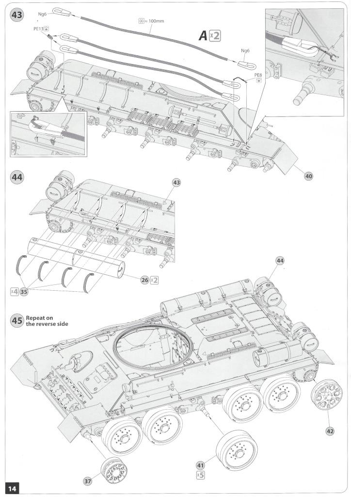 Anleitung13-1 T-34/85 Mod. 1945 Plant 112 1:35 Miniart (#37091)