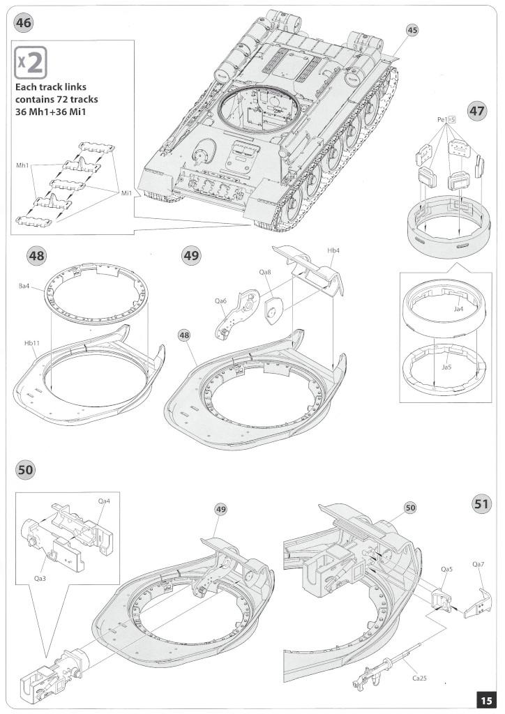 Anleitung14-1 T-34/85 Mod. 1945 Plant 112 1:35 Miniart (#37091)