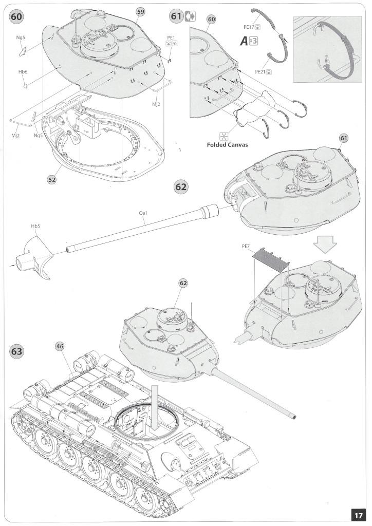 Anleitung16-1 T-34/85 Mod. 1945 Plant 112 1:35 Miniart (#37091)