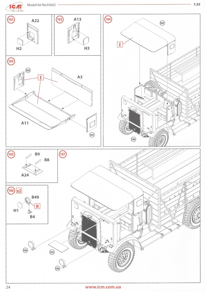 Anleitung24 Leyland Retriever General Service (early production) 1:35 ICM (#35602)