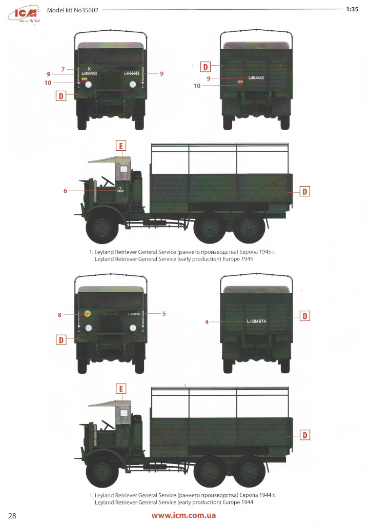 Anleitung28 Leyland Retriever General Service (early production) 1:35 ICM (#35602)