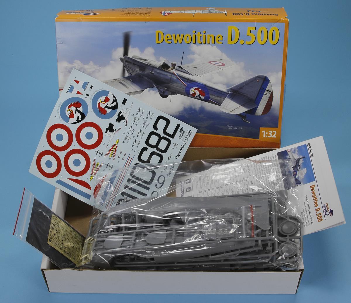Dora-Wings-DW-32001-Dewoitine-D.500-5 Dewoitine D.500 in 1:32 von DoraWings #DW32001