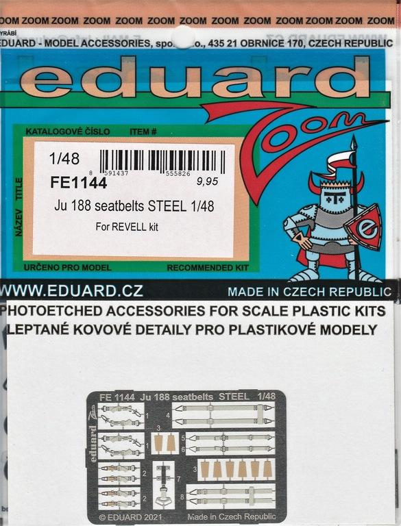 Eduard-481143-Ju-188-Revell-9 Ätzteile und Masken von Eduard für Revells Ju 188 in 1:48 #491143, FE1144