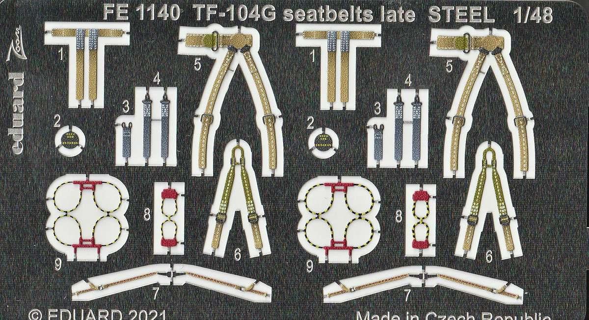 Eduard-491139-Detailsets-fuer-TF-104G-Kinetic-15 Ätzteile und Masken für Kinetics TF-104G Starfighter von Eduard in 1:48 #491139, #FE1140, #EX738 und #EX739