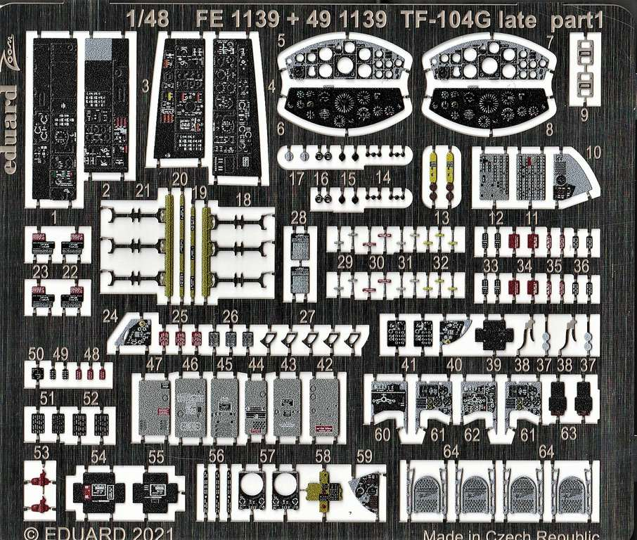Eduard-491139-Detailsets-fuer-TF-104G-Kinetic-3 Ätzteile und Masken für Kinetics TF-104G Starfighter von Eduard in 1:48 #491139, #FE1140, #EX738 und #EX739