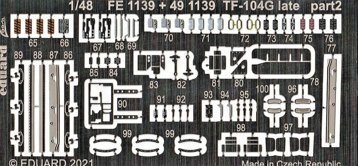 Eduard-491139-Detailsets-fuer-TF-104G-Kinetic-4 Ätzteile und Masken für Kinetics TF-104G Starfighter von Eduard in 1:48 #491139, #FE1140, #EX738 und #EX739